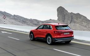 Picture rocks, Audi, E-Tron, 2019, dark orange