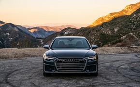 Picture Audi, sedan, front view, Audi A6, 2020, Audi S6, US-version