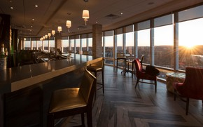 Picture interior, club, bar, club, area, Crowne Plaza, Saddle Brook, Bar and Lounge zone