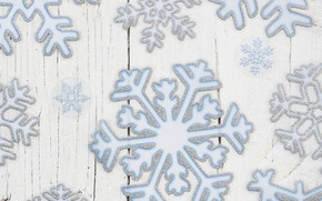 Picture snowflakes, texture, wood