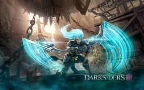 Picture girl, weapons, the game, Darksiders III