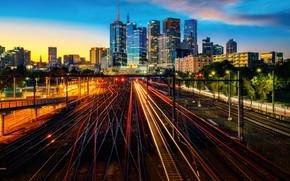 Picture night, city, the city, lights, Australia, Melbourne