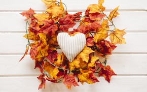 Picture autumn, leaves, love, background, tree, heart, colorful, love, maple, heart, wood, background, autumn, leaves, romantic, …