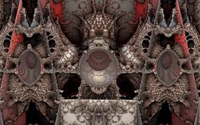 Wallpaper fantasy, 3D art, fractal art, graphic arts, fractal art, under the bed, under the bed