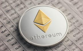 Picture blur, logo, table, coin, the air, eth, ethereum