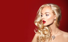 Picture makeup, blonde, beauty