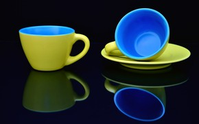 Picture reflection, Cup, still life, saucer