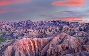 Picture mountains, USA, Badlands National Park, South Dakota, Badlands