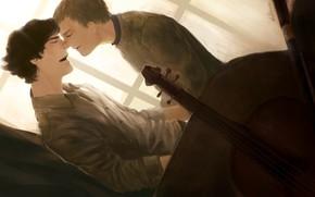 Picture window, art, pair, the series, Sherlock Holmes, John Watson, Sherlock BBC, Dr. John Watson, John …