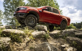 Picture stones, vegetation, Ford, pickup, Ranger, Lariat, Tremor, 2021, double cab