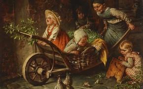 Picture German painter, German painter, Hermann von Kaulbach, Hermann von Kaulbach, oil on canvas, Munich School, …