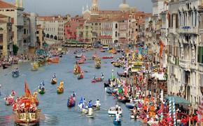 Picture Italy, Venice, The historical regatta
