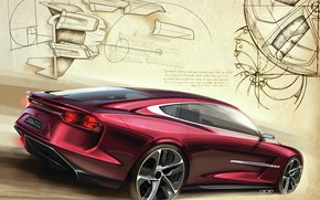Picture Sketch, Back, ItalDesign, DaVinci