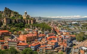 Picture home, Church, panorama, Georgia, Tbilisi