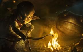 Picture fantasy, Art, hunter, goblin