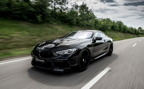 Picture road, movement, coupe, BMW, G-Power, Bi-Turbo, 2020, BMW M8, two-door, M8, M8 Coupe, F92, G8M