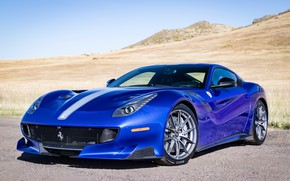 Picture blue, sports car, Gran Turismo, Ferrari F12 TDF