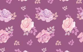 Picture purple, background, roses, texture