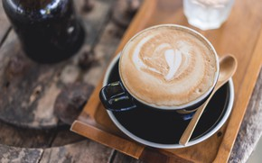 Picture chocolate, Cappuccino, Foam