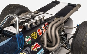 Picture Engine, Eagle, 1968, Chrome, Classic car, Sports car, Indianapolis 500, Indianapolis 500-Mile Race, Exhaust manifold, …