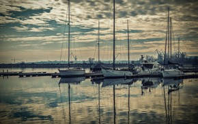Picture the city, Marina, yachts, boats, port, cranes