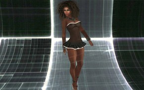 Picture room, perspective, backlight, girl art, distorted