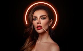 Picture look, face, fire, portrait, makeup, actress, match, singer, Anna Sedokova, halo, model, hair, actress, Anna …
