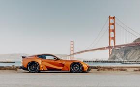 Picture bridge, sports car, Novitec, Ferrari 812, 2019 Ferrari 812 N-Largo
