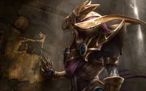 Picture beak, art, Egypt, League of Legends, God, League of legends, Azir