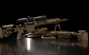 Picture rendering, weapons, gun, weapon, render, Remington, sniper rifle, snayperskaya rifle, remington, remington msr, Remington MSR, …