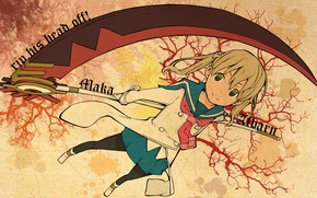 Picture weapons, girl, braid, Soul eater, Soul Eater