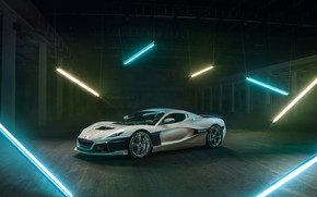Picture supercar, Rimac, electric car, C-Two