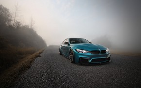 Wallpaper BMW, Blue, Fog, F80, Sight, LED