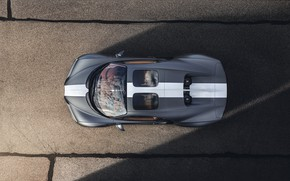 Picture Bugatti, the view from the top, Sport, W16, Chiron, spezzare, 2021, матово-серый, Les Légendes du …