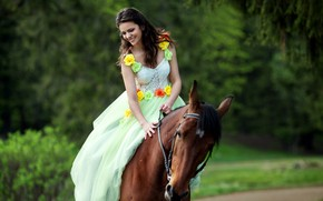 Picture girl, horse, horse, rider, Daria, Светлана Бойнович