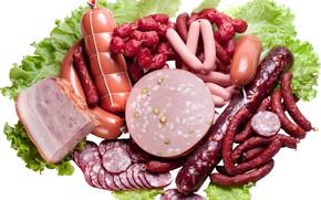 Picture sausage, sausage, ham