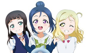 Picture joy, girls, white background, Love Live School Idol Project, Living love