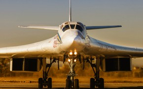Wallpaper Swan, The plane, USSR, Russia, Aviation, BBC, Bomber, Tupolev, Tu 160, The plane, The Tu-160, ...