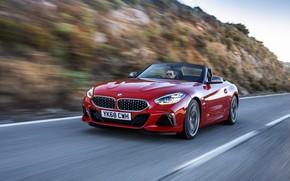 Picture red, BMW, slope, Roadster, BMW Z4, M40i, Z4, 2019, UK version, G29