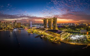 Picture night, the city, Singapore