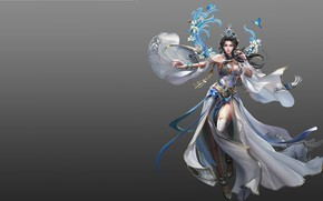 Picture girl, magic, the game, spring, fantasy, art, costume design, sol .., 239243yhdo