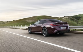 Picture hills, coupe, BMW, the fence, 2019, M8, the four-door, M8 Gran Coupe, M8 Competition Gran …