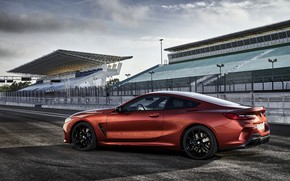 Picture coupe, BMW, silhouette, Coupe, 2018, 8-Series, dark orange, M850i xDrive, Eight, G15