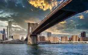 Picture Manhattan, NYC, Brooklyn bridge