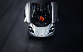 Picture coupe, V12, GMA, T.50, Gordon Murray Automotive, Type 50, подъёмные двери