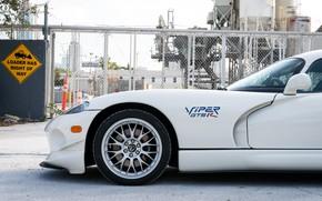 Picture Wheel, The inscription, Dodge Viper, The front, 1997, GTSR