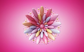 Picture flower, abstraction, pink, art
