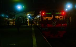 Picture Night, Train, Train, Railroad, Saint Petersburg