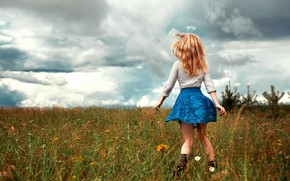Picture skirt, Girl, legs, Aleksandr Suhar