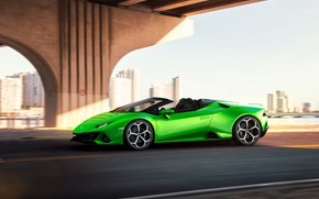 Picture machine, movement, Lamborghini, optics, sports car, Spyder, Evo, Huracan
